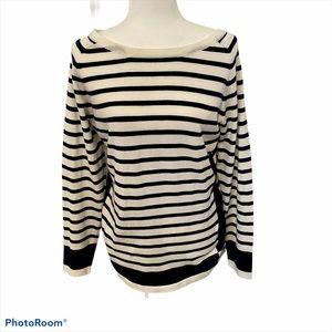 Nordstrom's Women's Boat Neck Striped Sweater Sz M